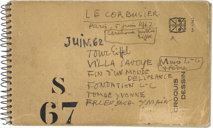 Stencil Faces in Le Corbusier Notebooks