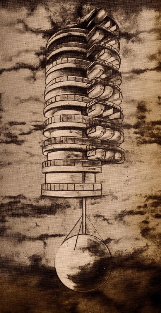 Georgy-Krutikov-flying-city-1928-01